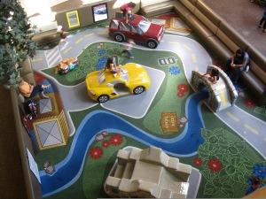 An overhead shot of the Oak Park Mall Play Area