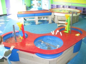 The water tables at the H2Oh! exhibit
