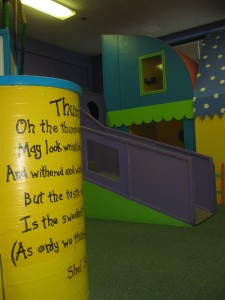 View of the toddler play area