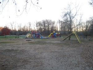 A distance shot of the Kiddie Park at Wyandotte County Lake Park