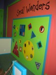 The tactile wall in the Small Wonders exhibit