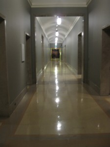 One of the Nelson's spacious hallways.