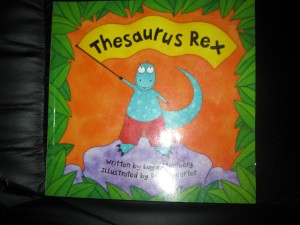 Front cover of Thesaurus Rex, soft-cover book.