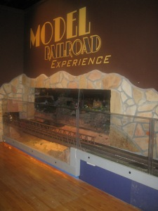 The entrance to the Model Railroad Experience.