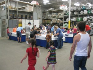 Photo of the Build and Grow Clinic set up at the Topeka, KS Lowe's