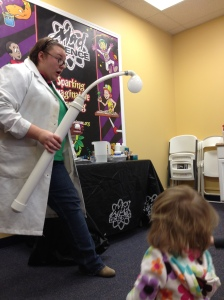 Our Mad Scientist with the CO contraption.  She had a partner in crime (aka fellow Mad Scientist) who isn't pictured.