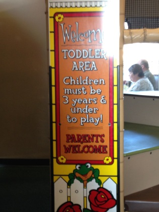 Rules for the toddler area